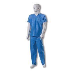 Costum chirurgical / Pijamale UF de unica folosinta din SMS - albastre