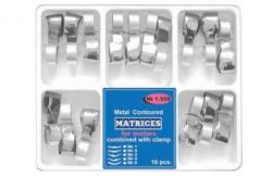 Matrici dentare Matrici Conturate Metalice cu Maner de Fixare, Premolari / Molari