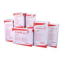 Comprese sterile din bumbac KOMPRI lux S - 7.5cm x 7.5cm