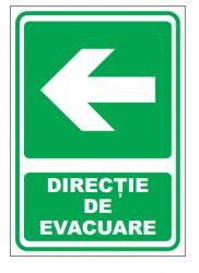 Echipamente de urgenta si resuscitare Indicatoare pentru iesire in stanga