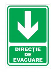 Echipamente de urgenta si resuscitare Indicatoare pentru iesire inainte