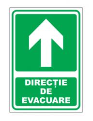 Echipamente de urgenta si resuscitare Indicatoare pentru directie de iesire inainte