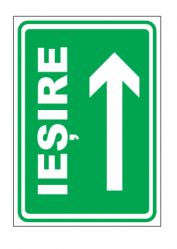 Echipamente de urgenta si resuscitare Indicatoare pentru directie de iesire