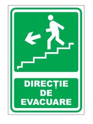 Echipamente de urgenta si resuscitare Indicatoare pentru directie de iesire stanga