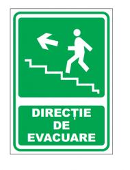 Echipamente de urgenta si resuscitare Indicatoare iesire spre stanga