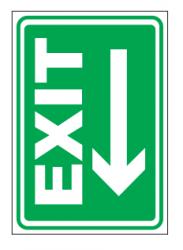 Echipamente de urgenta si resuscitare Indicator pentru EXIT