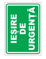Echipamente de urgenta si resuscitare Indicatoare pentru iesire de urgenta