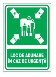 Echipamente de urgenta si resuscitare Indicatoare pentru indicarea locului de adunare in caz de urgenta