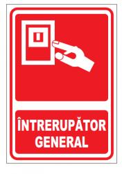 Echipamente de urgenta si resuscitare Indicator intrerupator general