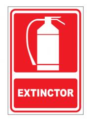 Echipamente de urgenta si resuscitare Indicator extinctor - AUTOCOLANT