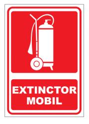 Echipamente de urgenta si resuscitare Indicator extinctor mobil