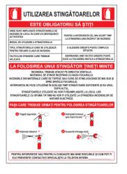Echipamente de urgenta si resuscitare Indicator utilizare stingatoare