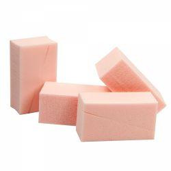 Consumabile salon Buretei pentru fond de ten, triunghiulari, roz