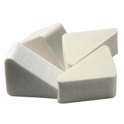 Consumabile salon Buretei pentru aplicat fond de ten, triunghiulari, albi