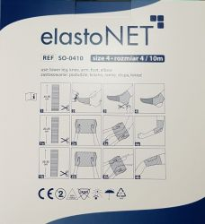 elastoNET - Bandaj tubular de fixare tip plasa, elastic, 25m - Marime: 4 - Indicatie: Picior inferior / Genunchi / Brat / Talpa / Cot