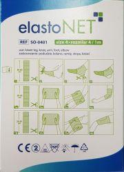 elastoNET - Bandaj tubular de fixare tip plasa, elastic, 2,5m - Marime: 4 - Indicatie: Picior inferior / Genunchi / Brat / Talpa / Cot