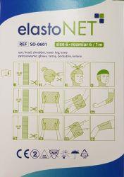 elastoNET - Bandaj tubular de fixare tip plasa, elastic, 2,5m - Marime: 6 - Indicatie: Cap / Umar / Picior inferior / Genunchi