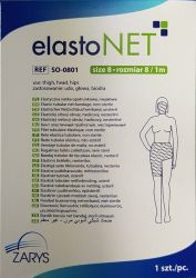 elastoNET - Bandaj tubular de fixare tip plasa, elastic, 2,5m - Marime: 8 - Indicatie: Coapsa / Cap / Sold