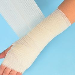 Fese elastice elastoBAND FLEX - Bandaj elastic bumbac / fasa elastica de fixare - Clip pentru fixare
