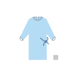 Halat chirurgical NORMAL - 22 PP - XL - (1 buc + prosop absorbant 40cm x 40cm)