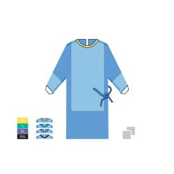 Halat chirurgical NORMAL - STANDARD PLUS - 45 SSMMS - XL - Violet - (1 bucata + 2 prosoape absorbante 30cm x 30cm)